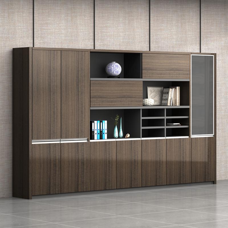 文件柜木质资料柜办公室隔断柜档案储物柜背景柜简约现代办公家具
