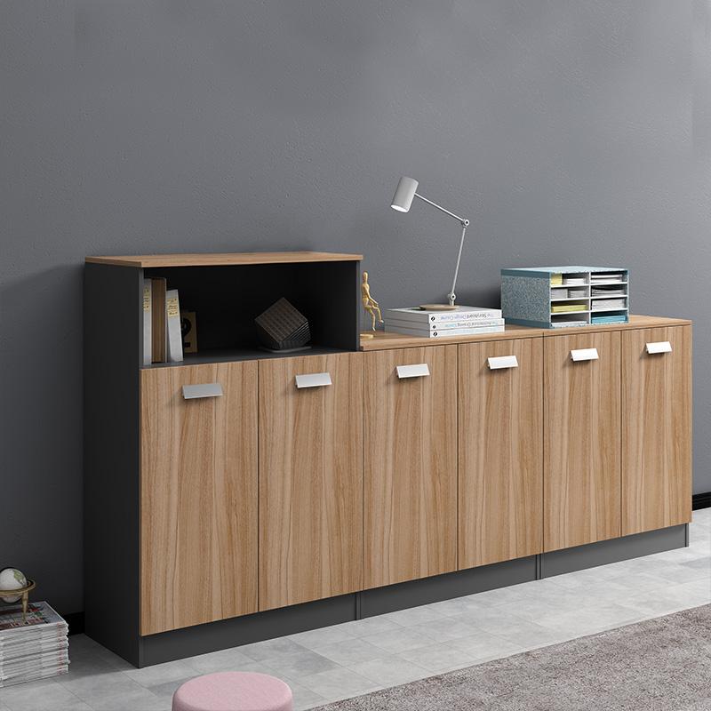 办公室木质文件柜矮柜办公柜子储物柜书柜茶水柜打印机收纳柜组合