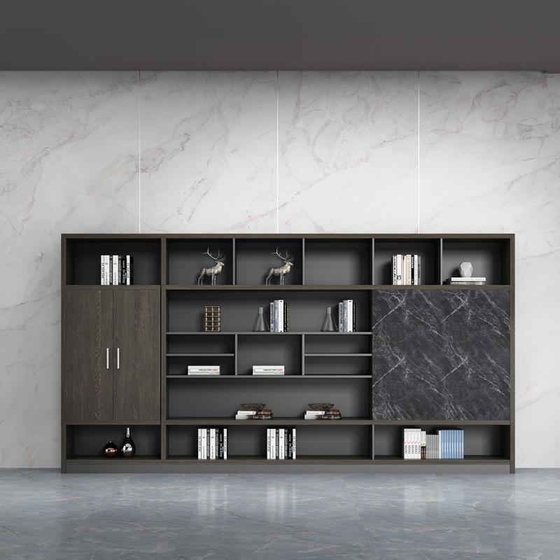 办公家具木质文件柜 书柜组合板式资料档案柜老板室背景文件柜子