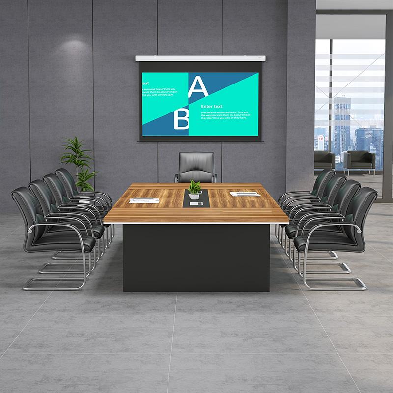 大小型会议桌长桌办公桌椅组合简约现代长条桌接待室洽谈桌开会桌