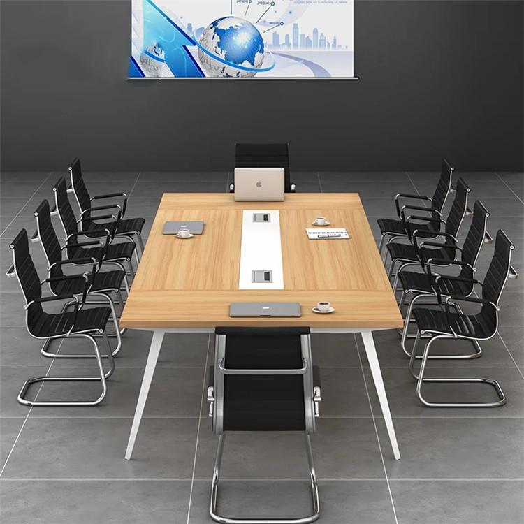 会议桌长桌员工培训桌接待室洽谈桌长方形长条桌铁艺办公桌开会桌