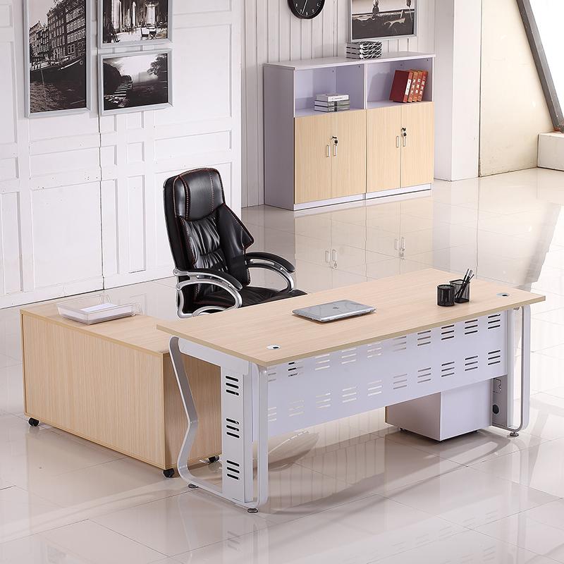 老板办公桌天津办公家具简约现代大班台主管桌经理桌办公桌椅组合