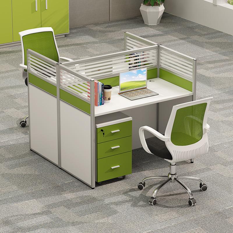 职员办公桌椅组合简约现代办公家具四人位4人员工电脑桌屏风卡座