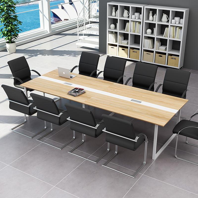 办公家具2017员工培训桌板式会议桌简约现代条形长桌组合天津包邮