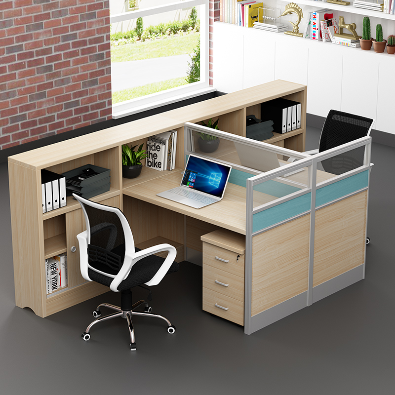 广州职员办公桌办公室财务隔断工位4人员工电脑6人位办公桌椅组合