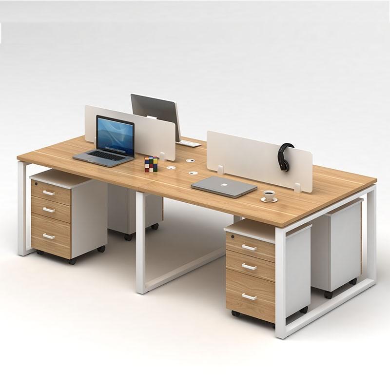 天津办公家具 简约现代办公桌椅组合职员办公桌屏风工作位4人位 员工位电脑桌椅